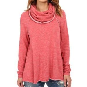 Free people Beach Red Cocoon Pullover Sz.XS/S